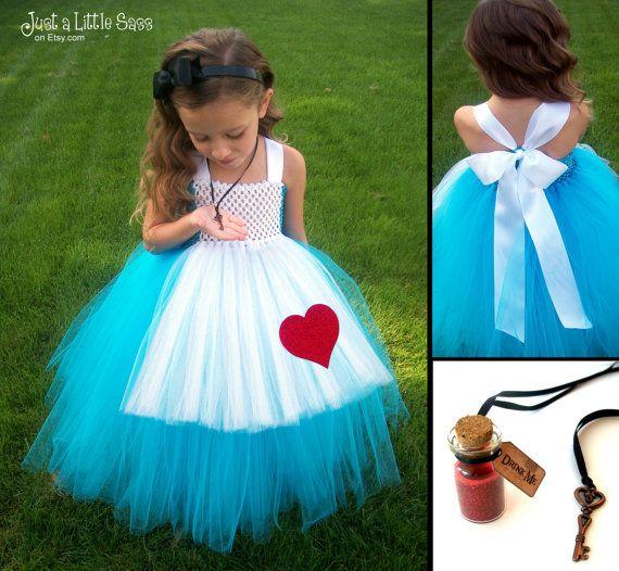 Alice in Wonderland Costume Tutu Dress by JustaLittleSassShop,