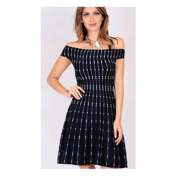Jalexa Off the Shoulder Knit Dress