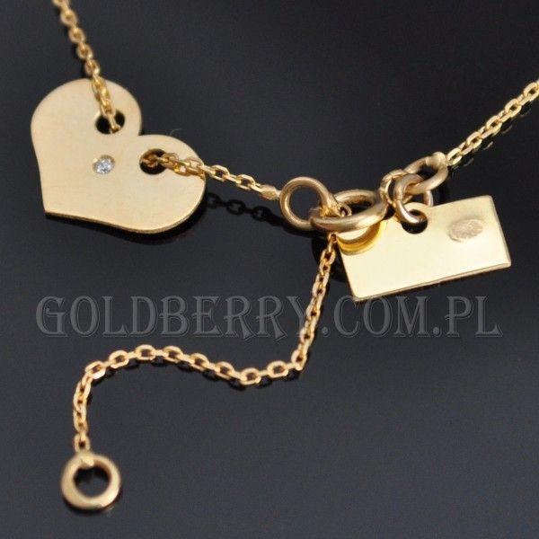 #Naszyjnik #Serce #Złoty #goldberry