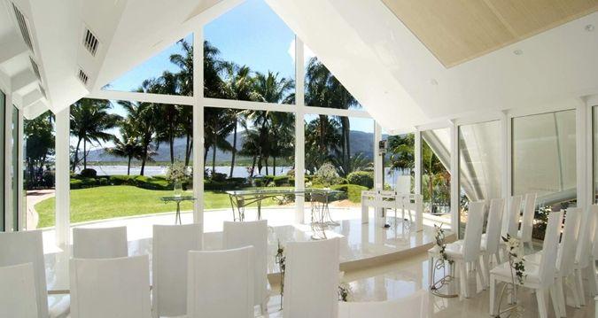 Hilton Cairns - indoor wedding setting
