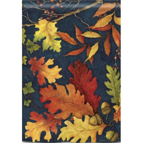 Buy Fall Foliage House Flag with free same day shipping and everyday low prices. Red, yellow, orange and green colored leaves look wonderful against this blue b