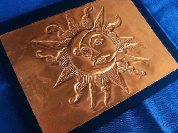 hand embossed cards on copper foil van bermarc op etsy 5