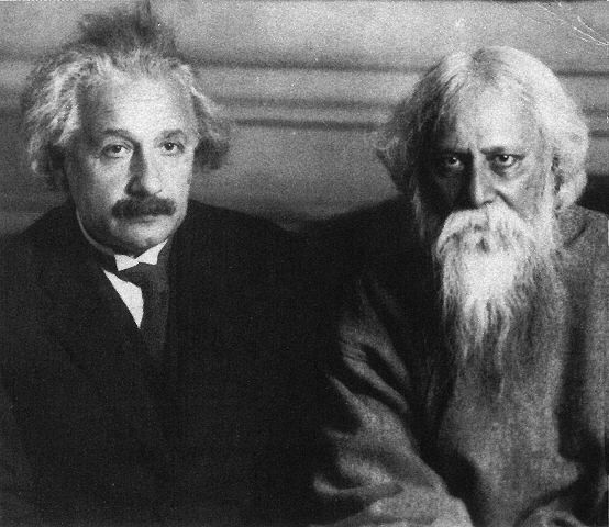 two intellectual heavy hitters, albert einstien and rabindranath tagore, met on july 14, 1930 at einstiens home in berlin. their dicussion, recounted in 'science and tradition:when einstein met tagore' by david gosling, provides an insight into the nature of our existence and elucidates the basic dichotomy between east and west. yet their discussion brings the two disparate regions ever closer under the umbrella of human thought. the brief excerpt on the site was truly a fascinating find!