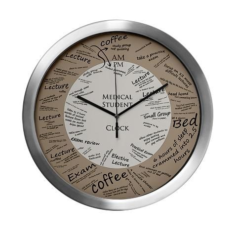 Medical Student Wall Clock http://www.cafepress.com/ medical_student_modern_wall_clock,521677344?aid=1115743 CafePress has the best selection of custom t-shirts, personalized gifts, posters , art, mugs, and much more.{Cafepress-BQU0W2OE}