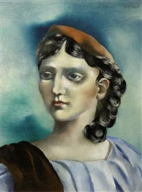 """Griekse vrouw (Greek Woman)"", 1931, by Carel Willink (Dutch, 1900-1983)."