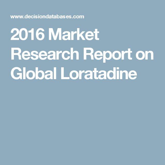 2016 Market Research Report on Global Loratadine