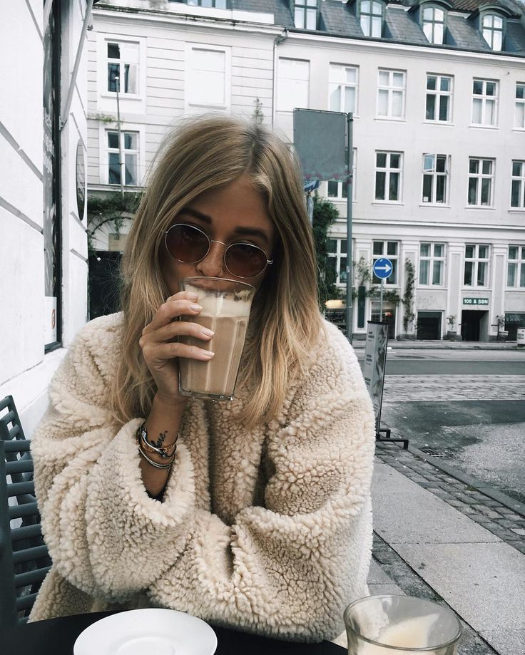 These jackets are ridiculously trending and they look so warm! I think with black high waisted jeans or a skirt and a tied white shirt.