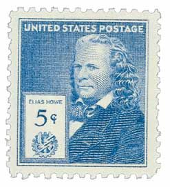 Elias Howe Patents First Lockstitch Sewing Machine   After eight years of tinkering, Elias Howe was awarded the first U.S. patent for a practical lockstitc