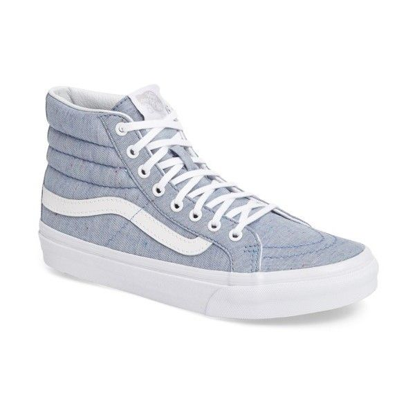 Women's Vans Sk-8 Hi Slim Sneaker ($70) ❤ liked on Polyvore featuring shoes, sneakers, high top canvas sneakers, vans sneakers, high top shoes, high-top sneakers and hi tops