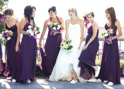 Such a cute idea! Tom's for the bridal party to wear at the reception! & it doubles as a gift!