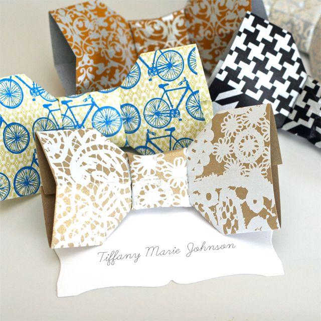 noeud papillon origami pinterest papas f te des p res et papier marron. Black Bedroom Furniture Sets. Home Design Ideas