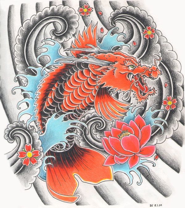 11 best images about dragon koi tat on pinterest for Dragon koi fish