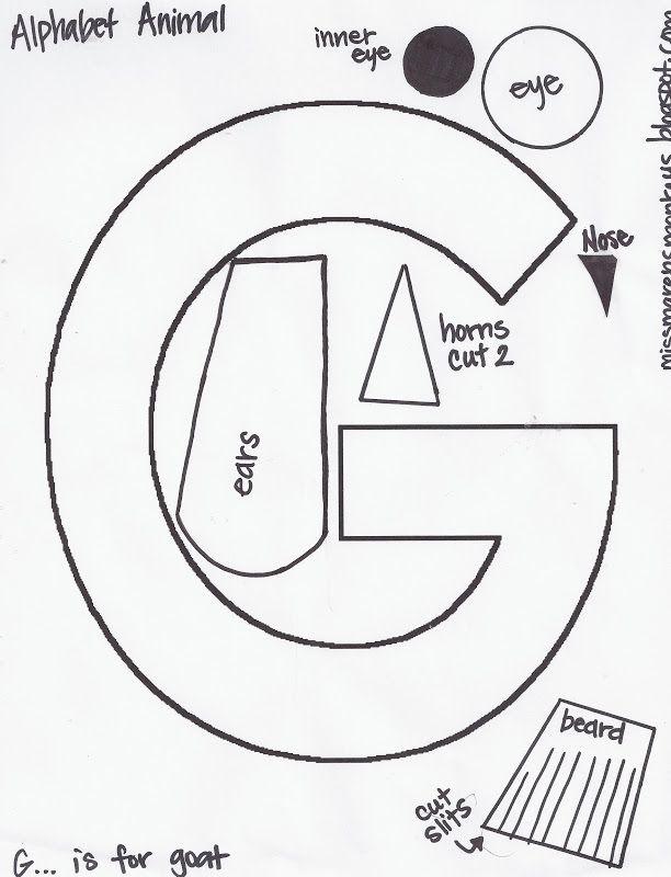 g is for goat craft learning teaching ideas pinterest preschool preschool letters and kindergarten