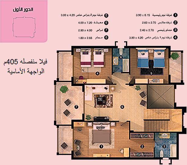 رسم توضيحى لمساحات مشروع الرياض سيكون القاهرة الجديدة إجدى مشاريع الشركة السعودية المصرية للتعمير حيث يقع المشروع على مساحة 68 فد Sixties Diagram Floor Plans