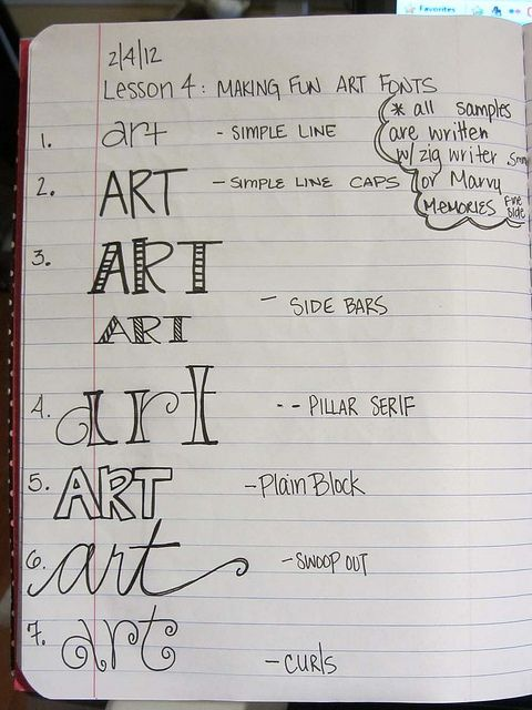 Lettering styles