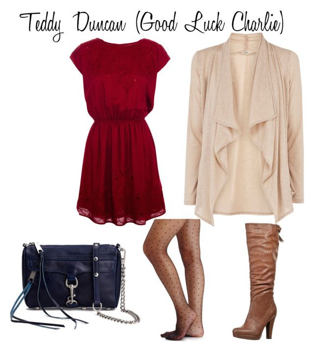 """Teddy Duncan (Good Luck Charlie)"" by guardingangels ❤ liked on Polyvore featuring moda, Pull&Bear, Oasis, Anna Field, Rebecca Minkoff e 2b bebe"