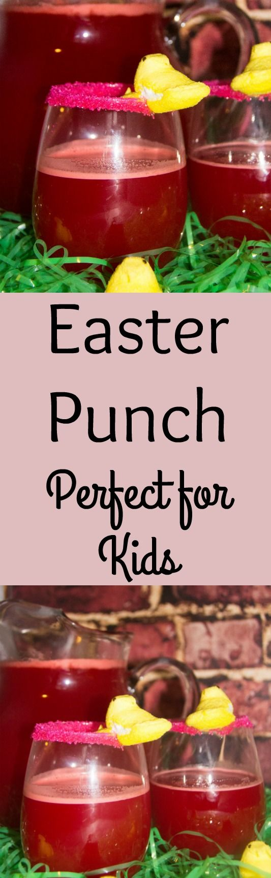 Whether you are looking for an Easter Punch recipe or a non-alcoholic punch recipe for anytime, this is an easy to make to make punch recipe for kids.