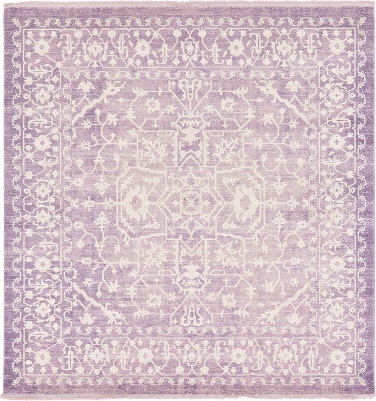 Purple 8' x 8' New Vintage Square Rug | Area Rugs | eSaleRugs