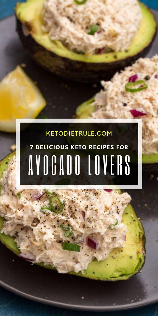 7 amazing low-carb avocado recipes for the low-carb ketogenic diet. #ketorecipes...