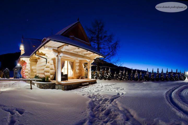 24 listopad 2012 - zima w domku góralskim nocą, Zakopane