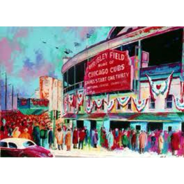 Chicago Cubs: Cubs Art, 1945 Canvas, Chicago Cubs, Sorenson Art, Art Wrigley, Wrigley Field, Painting, Field 1945, Fields