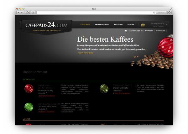 Cafepads24.de - Nespresso Pads vom Experten