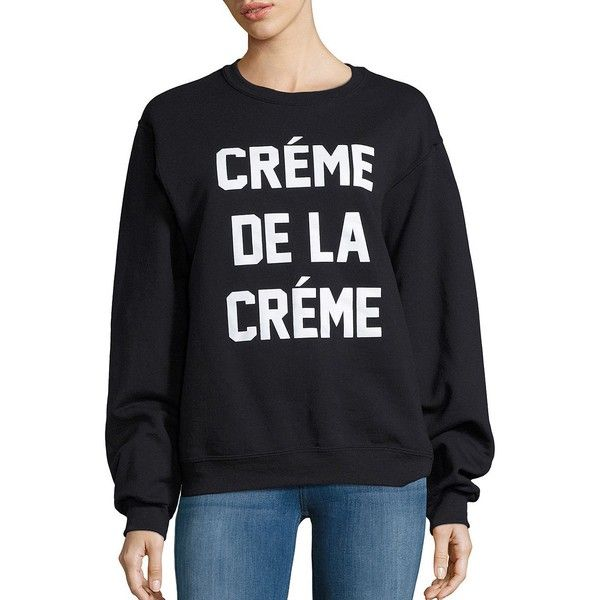 Private Party Creme De La Creme Pullover (105 CAD) ❤ liked on Polyvore featuring tops, sweaters, black, going out tops, sweater pullover, night out tops, cream top and party tops