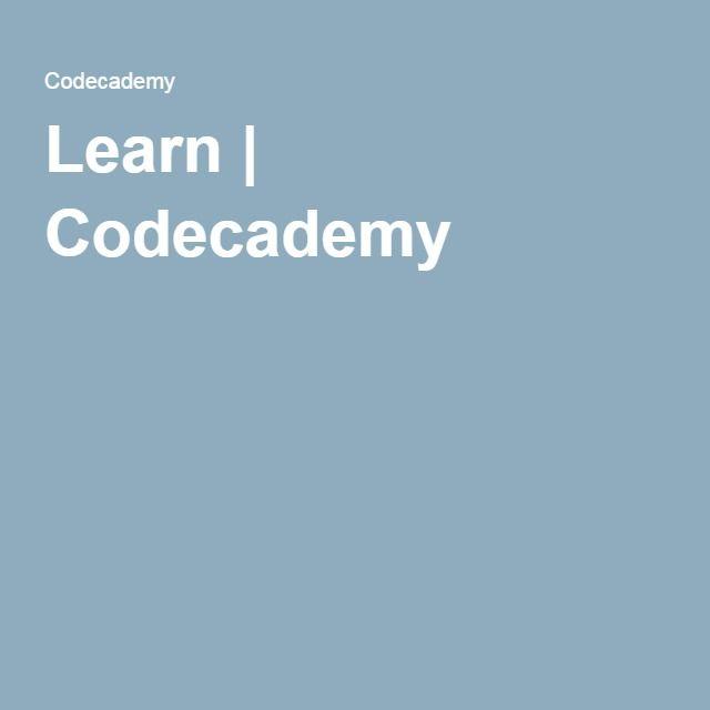 Learn | Codecademy