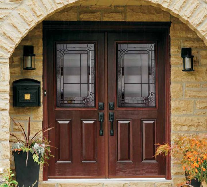 danbury door system stained fiberglass door panels