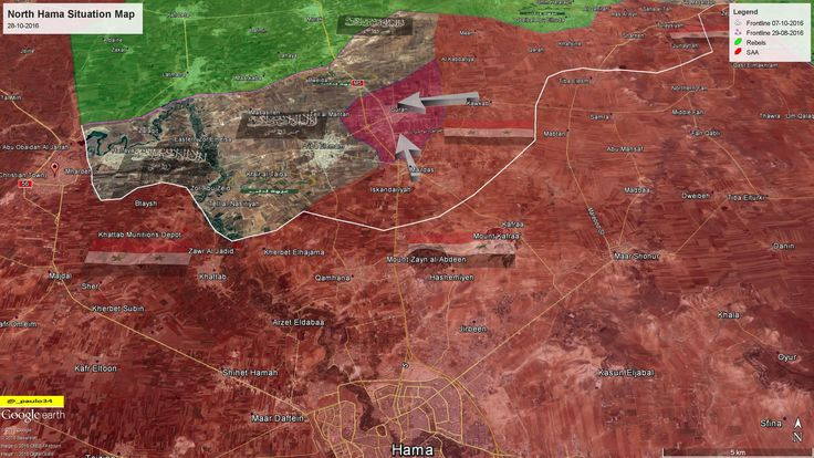 North Hama Situation Map 28-10-2016 SAA vs Rebels #Hama #Syria