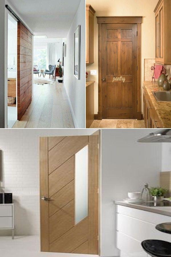 Slab Door 4 Panel Frosted Glass Interior Door Modern Entry Doors In 2020 Wooden Doors Wood Doors Interior Modern Entry Door
