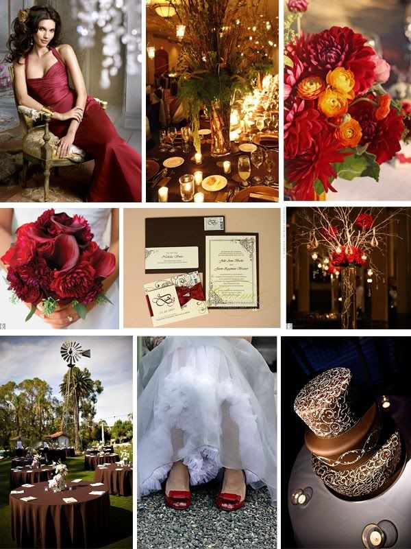 Inspiration Board: Red and Brown Elegance