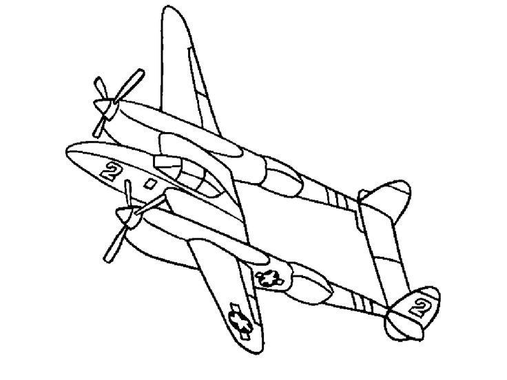 79 Coloring Book Pages Airplane