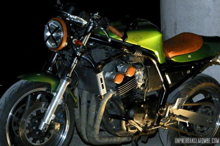 La Yamaha 600 Fazer de Cindy, un vrai cafe-racer... Pas une brêle de princesse !