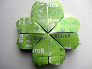 Origami quadrifoglio