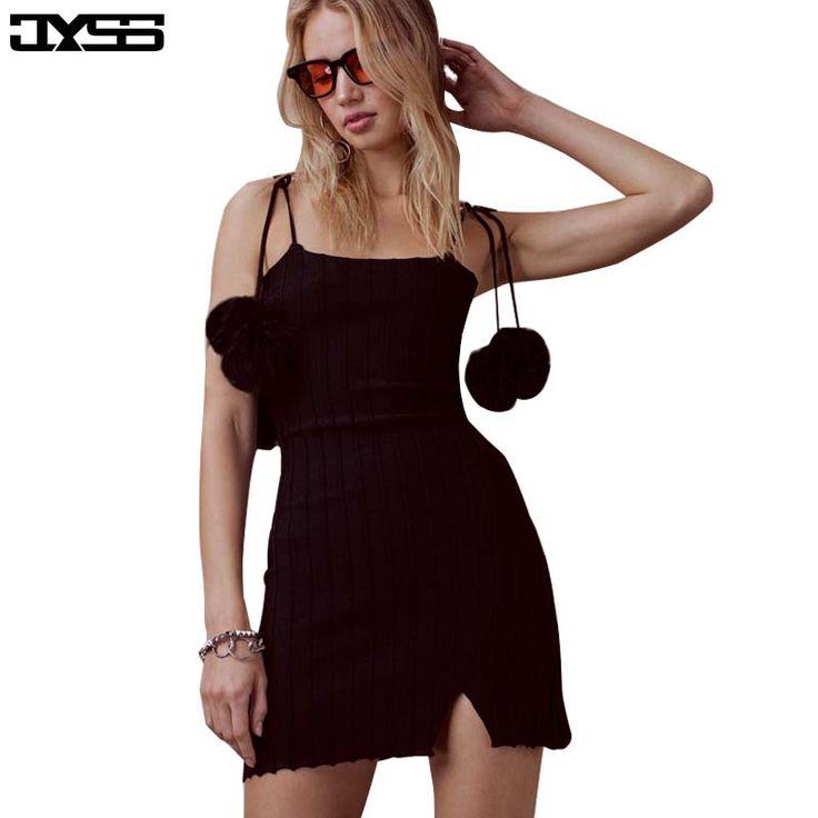 Aliexpress.com : Buy JYSS new fur ball summer women personality black  dresses sleeveless spaghetti