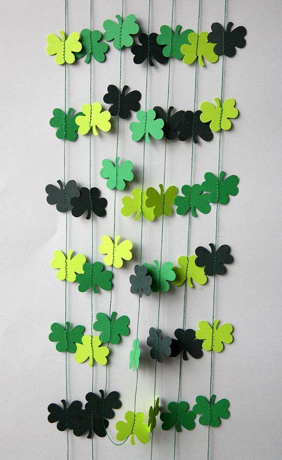 Irlandés de la boda, guirnalda de trébol, trébol banner, banner de día de St Patrick, decoración de trébol. Decoración irlandesa, decoración del partido irlandés, KH-5001