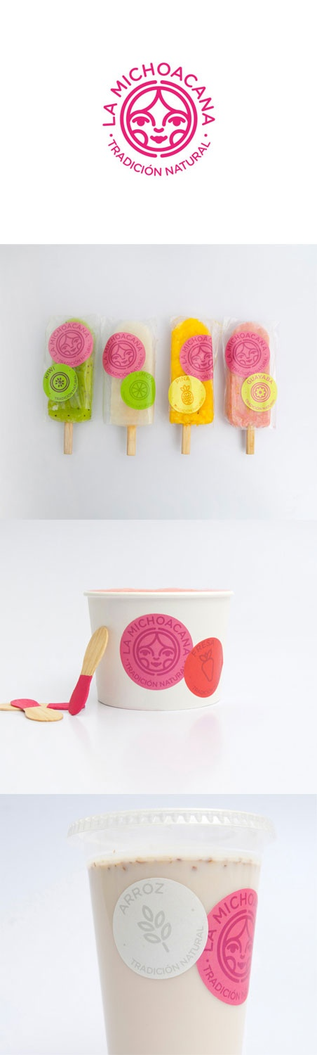 "New packaging system for La Michoacana, traditional Mexican ""paleteria"" http://lovelypackage.com/la-michoacana/ (combination)"
