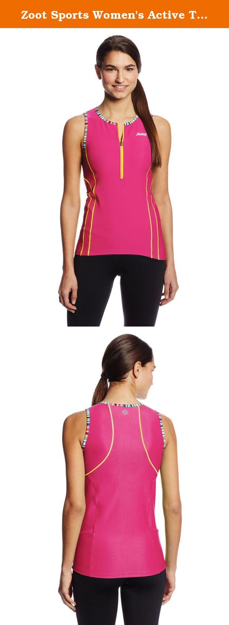 Zoot Sports Women's Active Tri Mesh Tank, Beet/Flash, Medium. By design races are long and hard. And, by design, Zoot's triathlon apparel keeps you supported through all of it.
