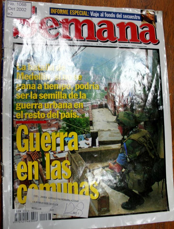 Portada de la Revista Semana publicada el fin de semana siguiente a la Operación Orión.