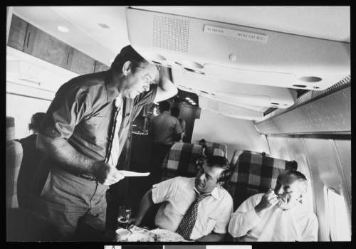 Herbert G. Klein aboard Air Force One :: Herbert G. Klein aboard Air Force One :: Herbert G. Klein Papers, 1940-2000. http://digitallibrary.usc.edu/cdm/ref/collection/p15799coll169/id/38
