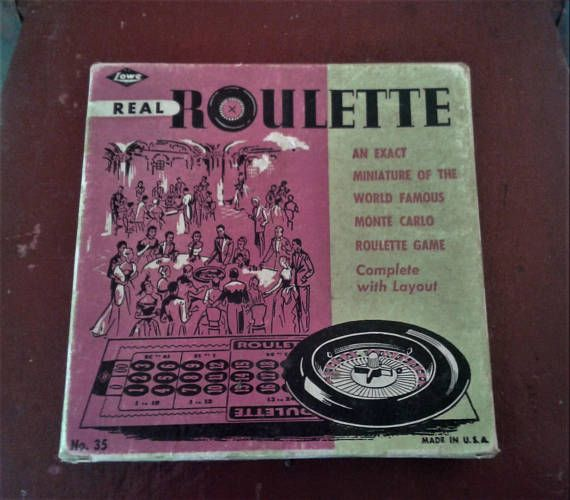 Real Roulette game E S Lowe miniature roulette game made in