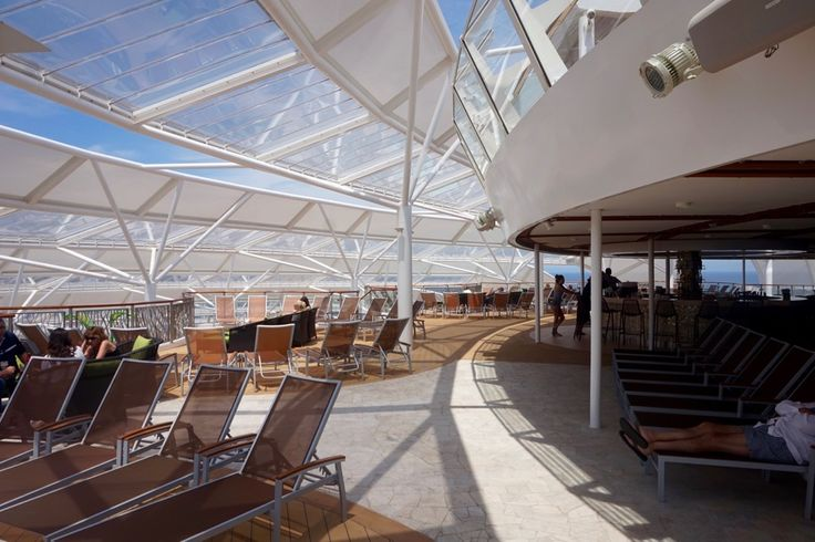 Harmony of the Seas, sun deck ETFE roof.