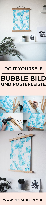 DIY Bubble Bild und Posterleiste selbermachen
