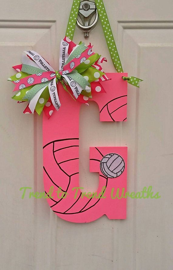 Wooden Volleyball Letter, Volleyball , Volleyball Decor, Volleyball Gift,  Team Gift, Volleyball Door Hanger, Senior Gift