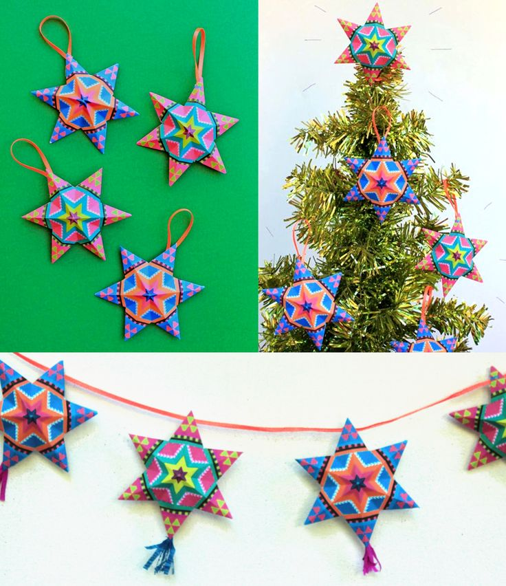 Best 25 star template ideas on pinterest felt butterfly for Mexican christmas ornaments crafts