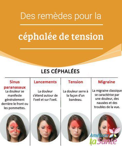 Des remèdes pour la céphalée de tension   Vous souffrez souvent d'une céphalée de tension ? Nous vous proposons aujourd'hui des remèdes naturels qui vous soulageront efficacement !