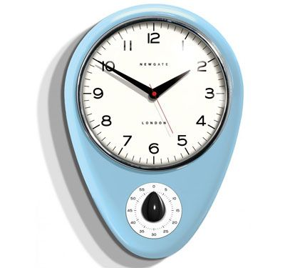 1960s-style Newgate Discovery kitchen timer wall clock