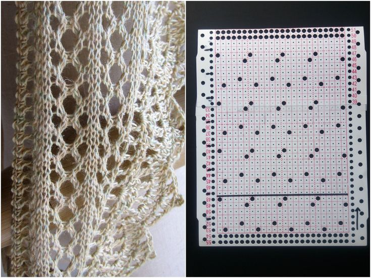 a lace pattern punchcard for brother knittingmachine