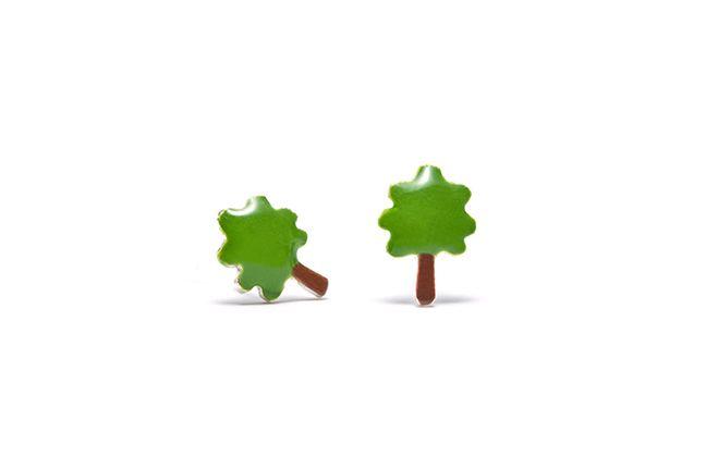 Boucles d'oreilles Bonzaï, un petit arbre robuste, aventurier et téméraire.